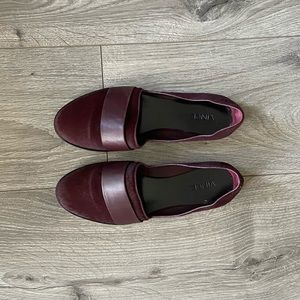 Vince pony hair loafers